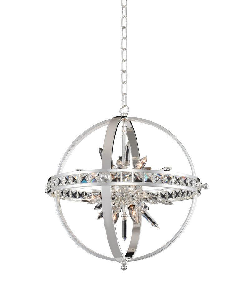 Allegri - 033650-014-FR001 - Six Light Pendant - Angelo - Polished Silver