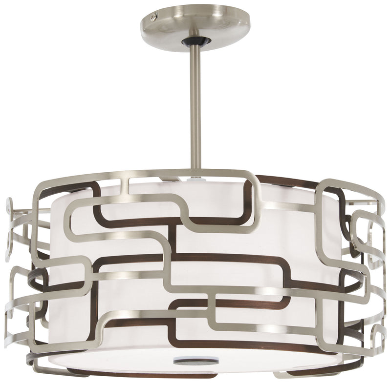 George Kovacs - P1425-674-L - LED Pendant - Alecia`S Tiers - Brushed Nickel & Bronze Patina