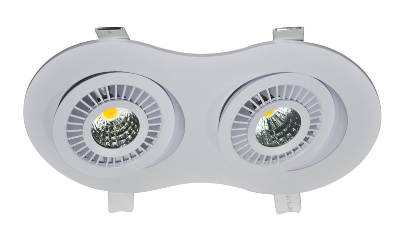 DOWNLIGHT LED DOBLE DIRIGIBLE 2X7W 3000K 110-240V