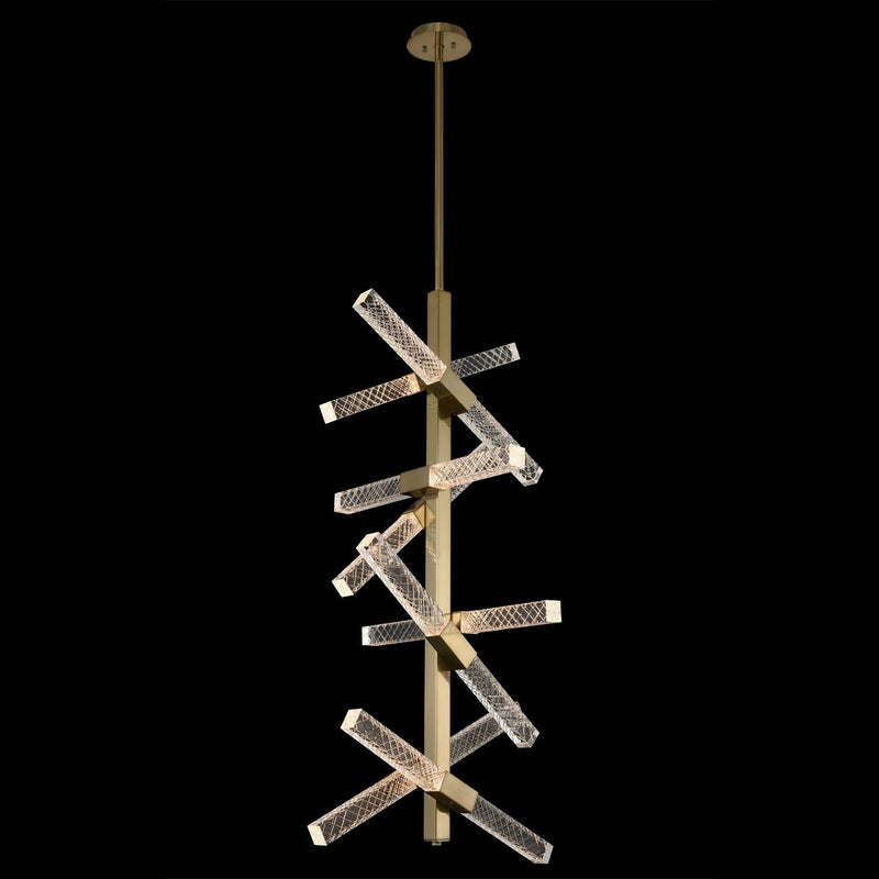 Allegri - 034950-038-FR001 - LED Foyer Pendant - Apollo - Brushed Champagne Gold