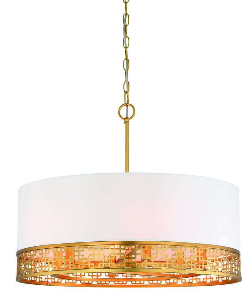 Metropolitan - N7786-248 - Six Light Pendant - Blairmmor - Honey Gold