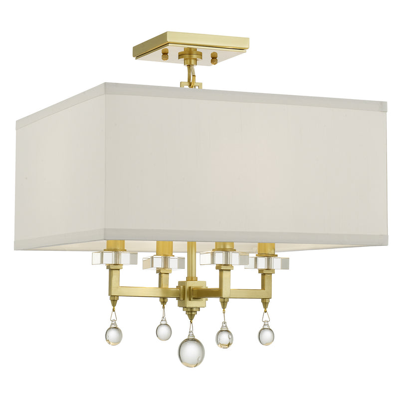 Crystorama - 8105-AG_CEILING - Four Light Ceiling Mount - Paxton - Aged Brass