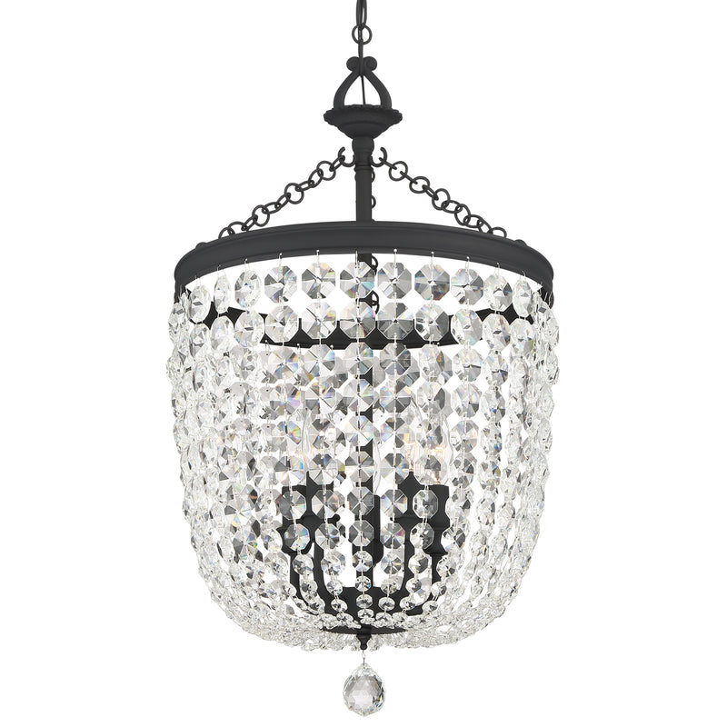 Crystorama - 785-BF-CL-MWP - Five Light Chandelier - Archer - Black Forged