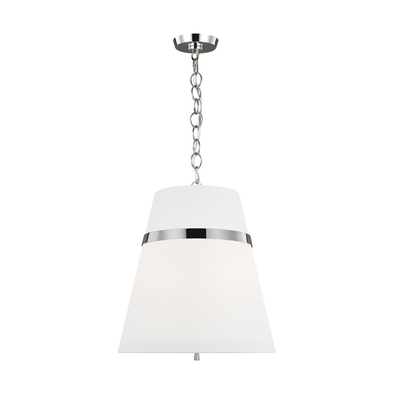 Generation Lighting - AP1173PN - Three Light Pendant - Cordtlandt - Polished Nickel