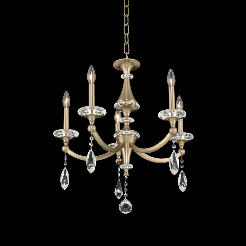 Allegri - 012170-045-FR001 - Five Light Chandelier - Floridia - Matte Brushed Champagne Gold