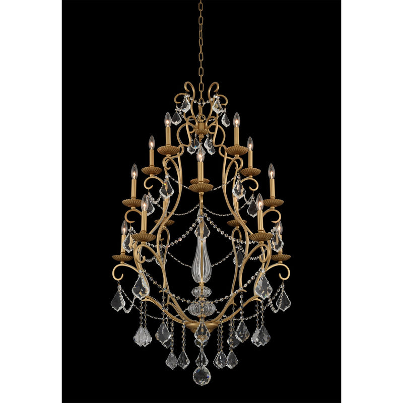 Allegri - 027472-047-FR001 - 15 Light Chandelier - Elise - Gold Patina