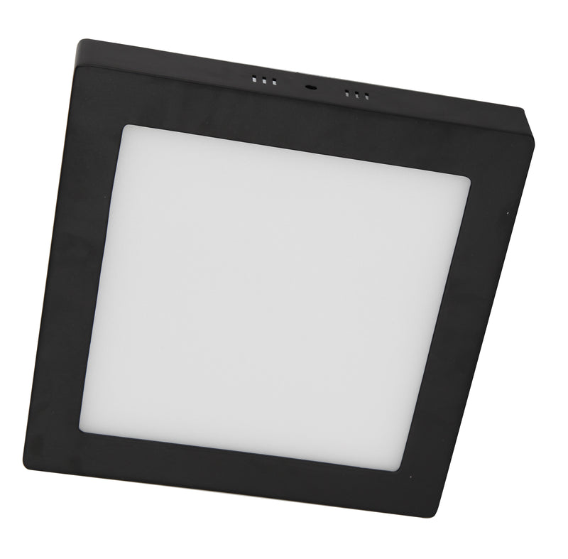 PANEL LED DE TECHO SUPERFICIAL ACABADO NEGRO LIGHTSOURCE DE 18W 4000K