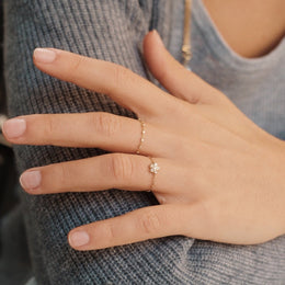 The Set: Bloomy + Firefly Rings