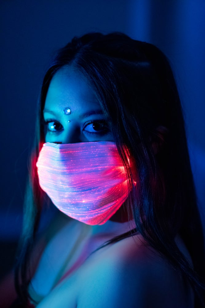 Galaxy Star LED Face Mask - Black or White