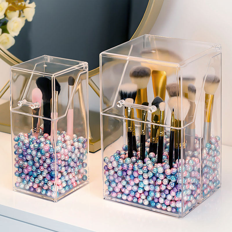 Brushes Organizer Storage Box Acrylic Cosmetic Make Up Organizer Clear Makeup