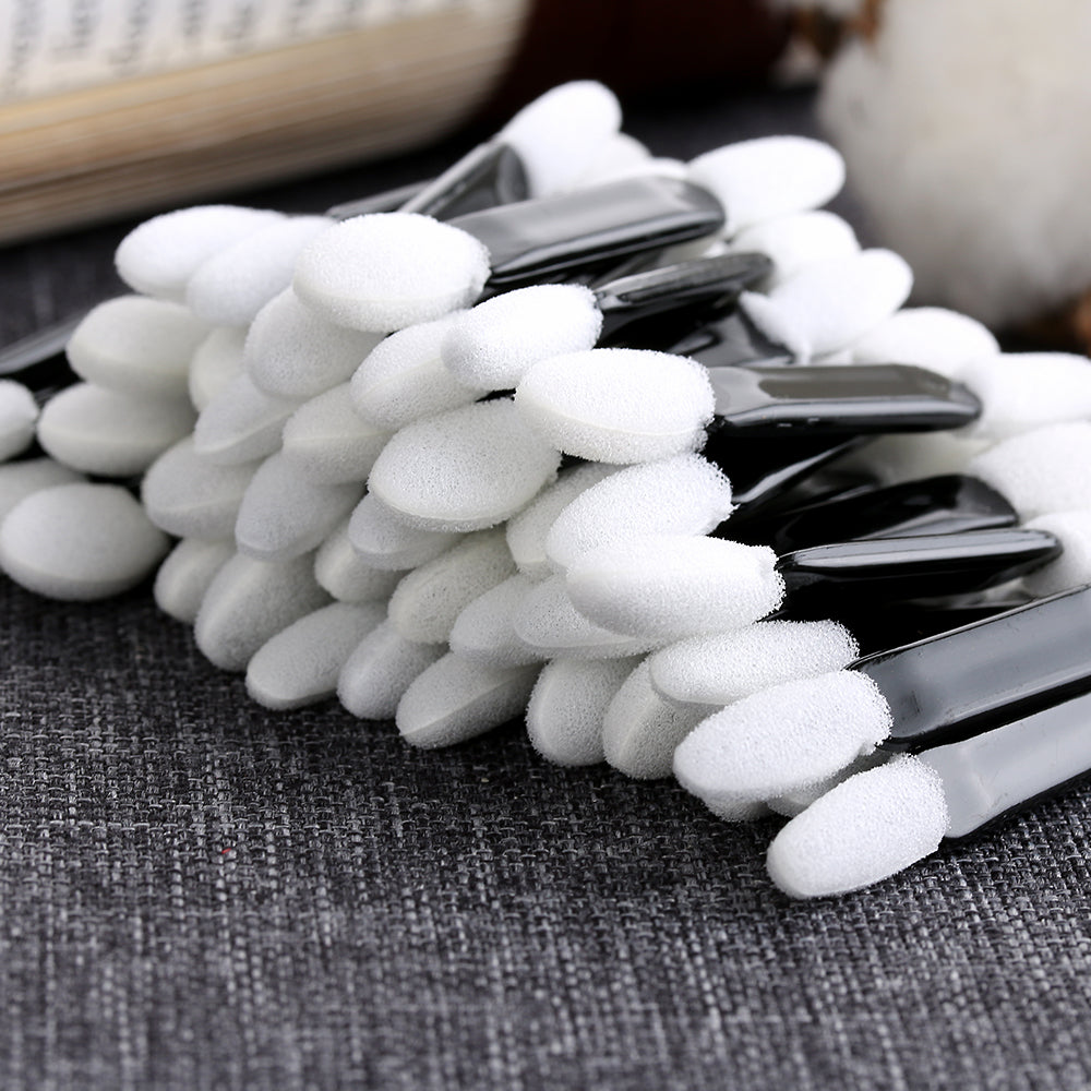 Stylish Pro 50pcs Eye Shadow Sponge Brushes Applicator Double Foam Head Cosmetic