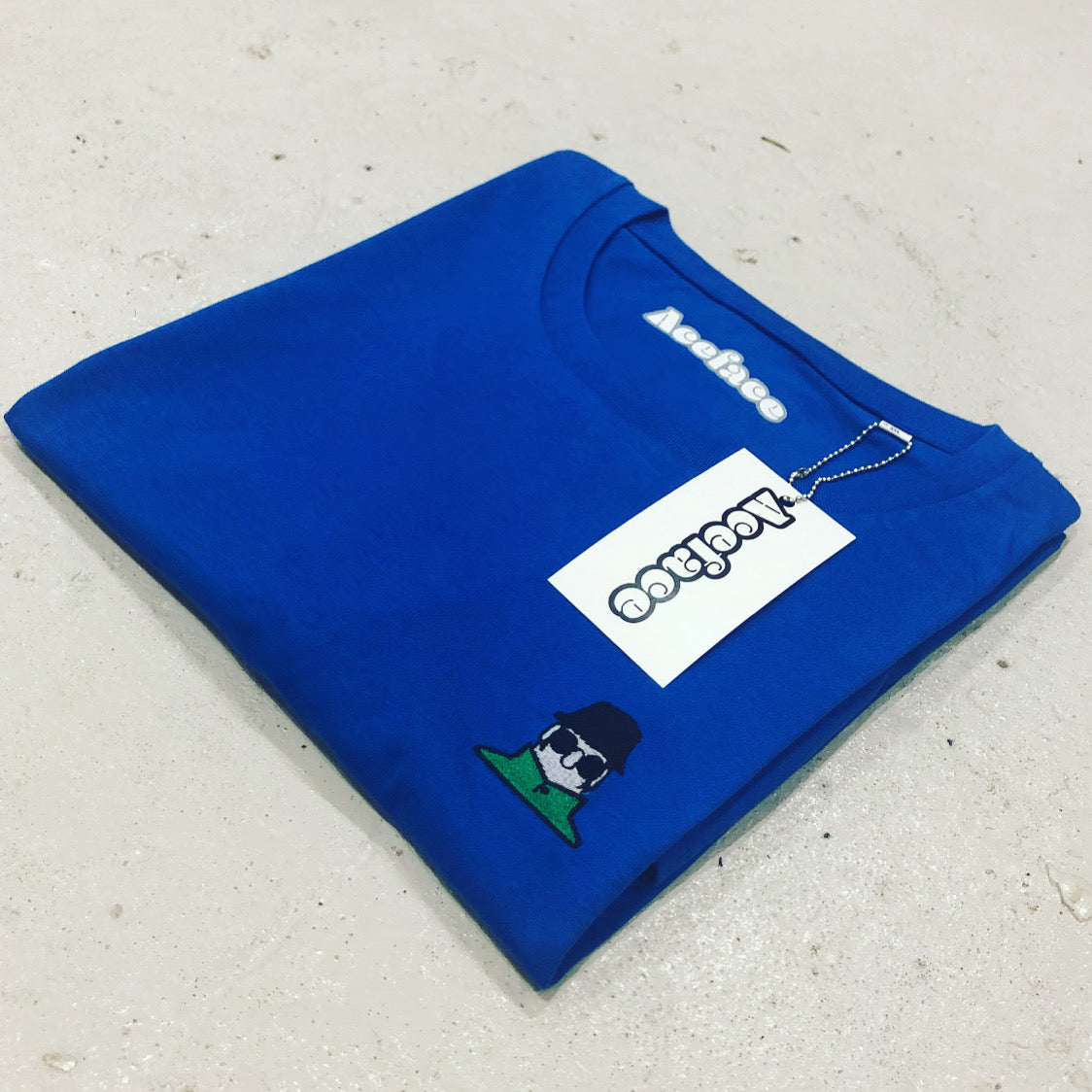 THE ACEFACE CLASSIC BLUE T-SHIRT