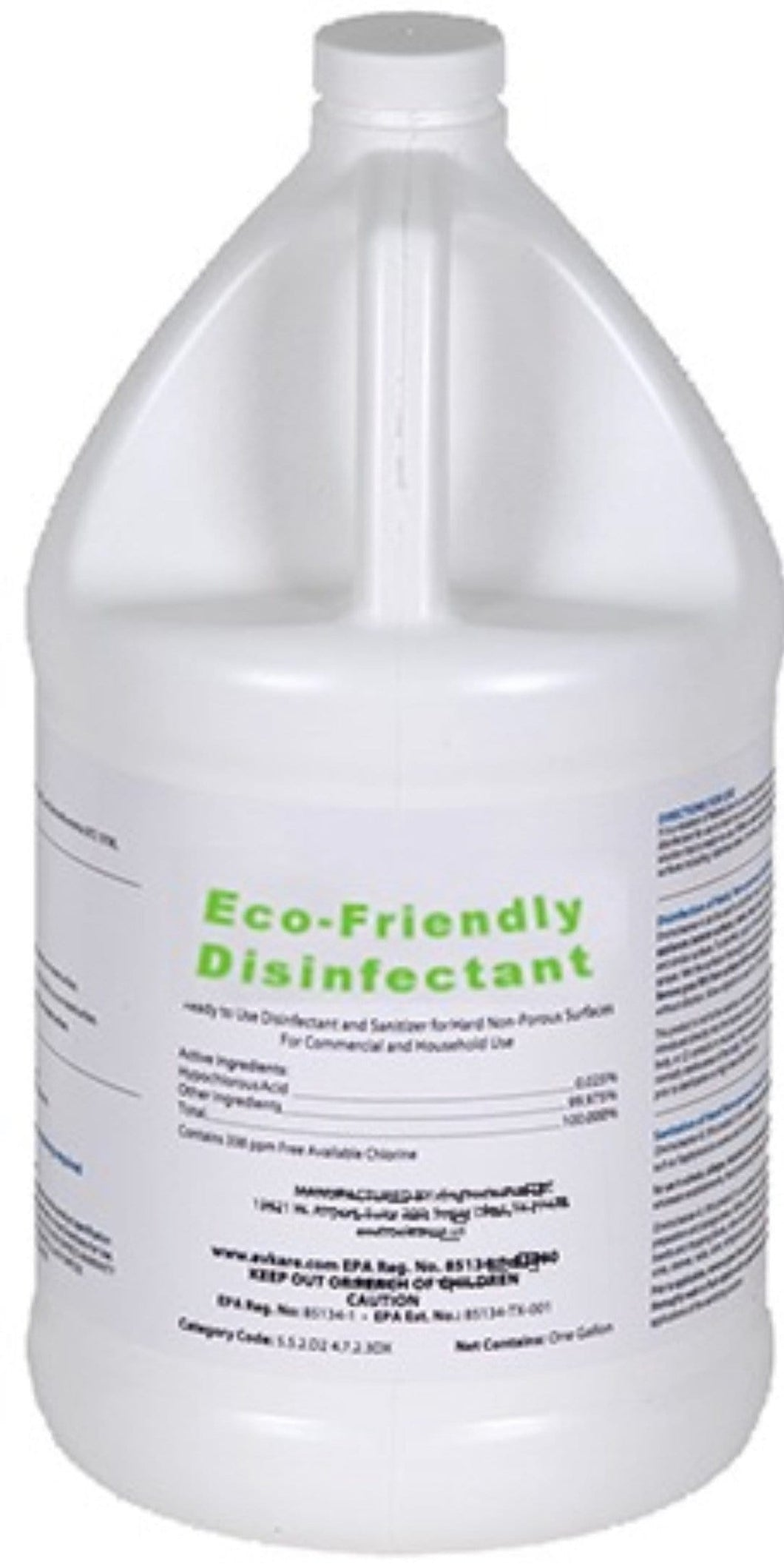 Enviro-Friendly (1 gallon) - EPA & FDA Registered + Health Canada Approved Hospital Grade Disinfectant - EFFECTIVE AGAINST COVID-19