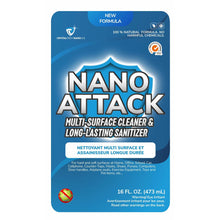Load image into Gallery viewer, Nano Attack (16OZ Bottle) - Multi Surface Biodegradable Cleaner & Sanitizer