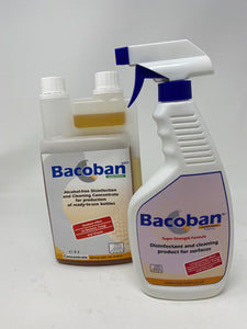 Bacoban - Water Based Cleaner and Disinfectant (Effective up to 10 days) - 500ML Sprayer