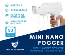 Load image into Gallery viewer, Cordless Mini  Electrostatic Fogger - Nano Home and Small Business  Fogger - Health Canada Approved