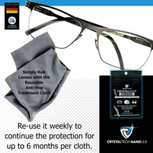 Load image into Gallery viewer, CrystalView Xtreme - Anti-Fog Wipe Treatment When Wearing Glasses & Visors With Masks