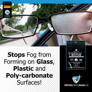 CrystalView Xtreme - Anti-Fog Wipe Treatment When Wearing Glasses & Visors With Masks
