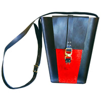 Black and Red Leather Bag