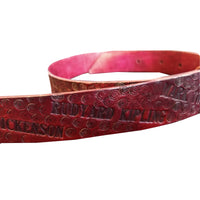 Leather Belt With Embossed Writer's Names