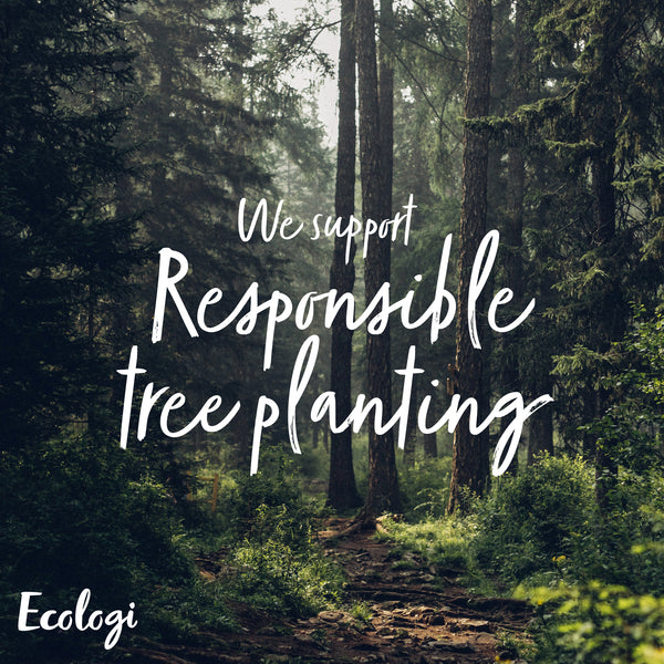 One tree planted for every order placed on our website!