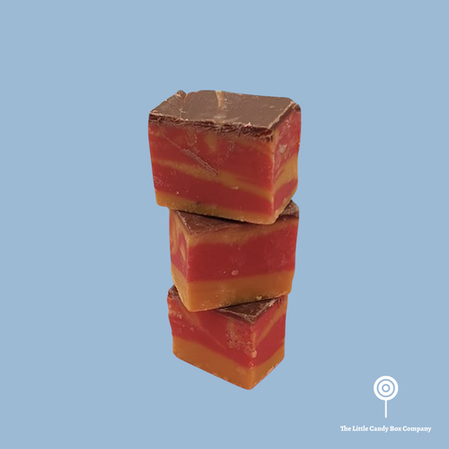 marzipan chocolate flavoured fudge