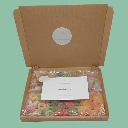 Fizzy letterbox sweets - pick and mix selection gift box
