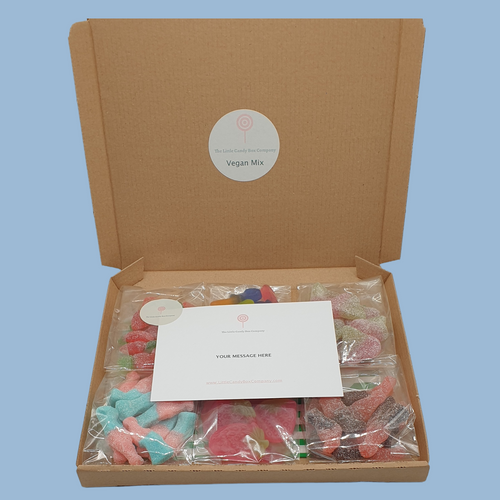 vegan letterbox gift - vegan pick and mix sweets - vegan candy