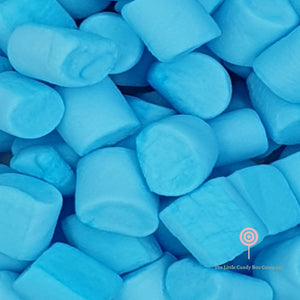Blue marshmallows sweets