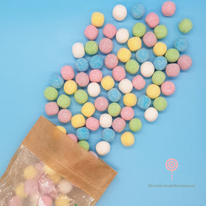 mixed bag of colourful chewy bonbon sweets