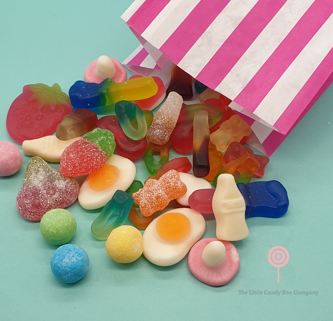 pick n mix sweets - candy stripe bag - party bags