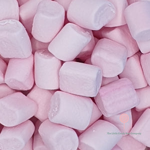 small soft baby pink marshmallow pieces