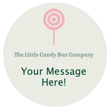 Load image into Gallery viewer, personalised custom pouch label for sweet gifts