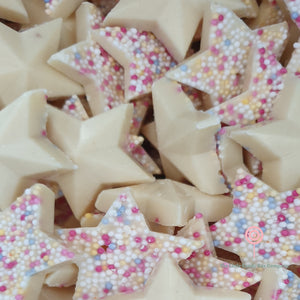 white chocolate stars