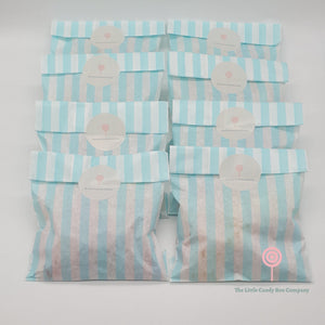 party bags - kids party bags - children's sweets - stripe candy bags