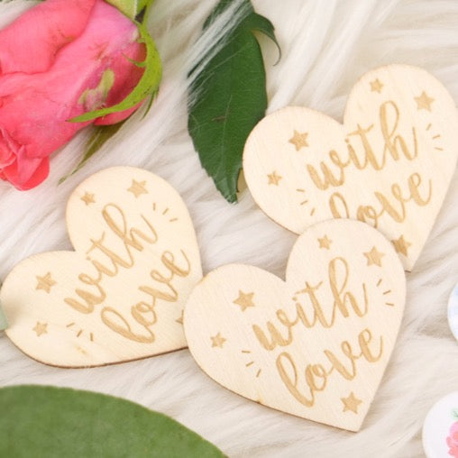 Paper Posies Wooden Hearts