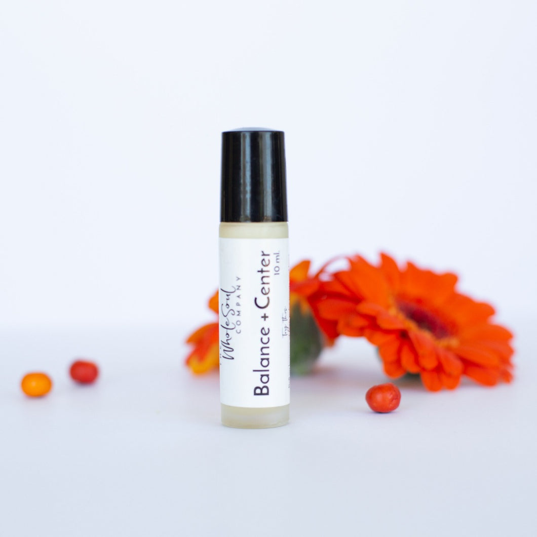 balance + center rollerball aromatherapy to go