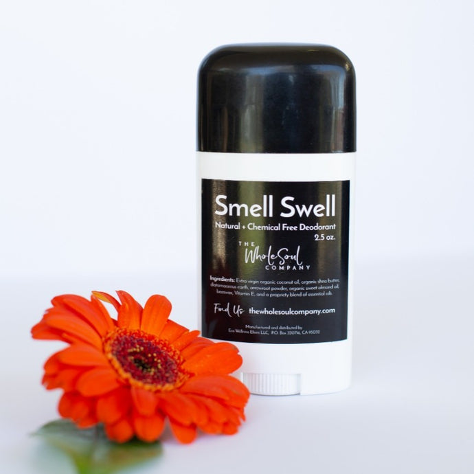 natural and chemical free deodorant. toxin-free, sulfate free, all natural to smell swell