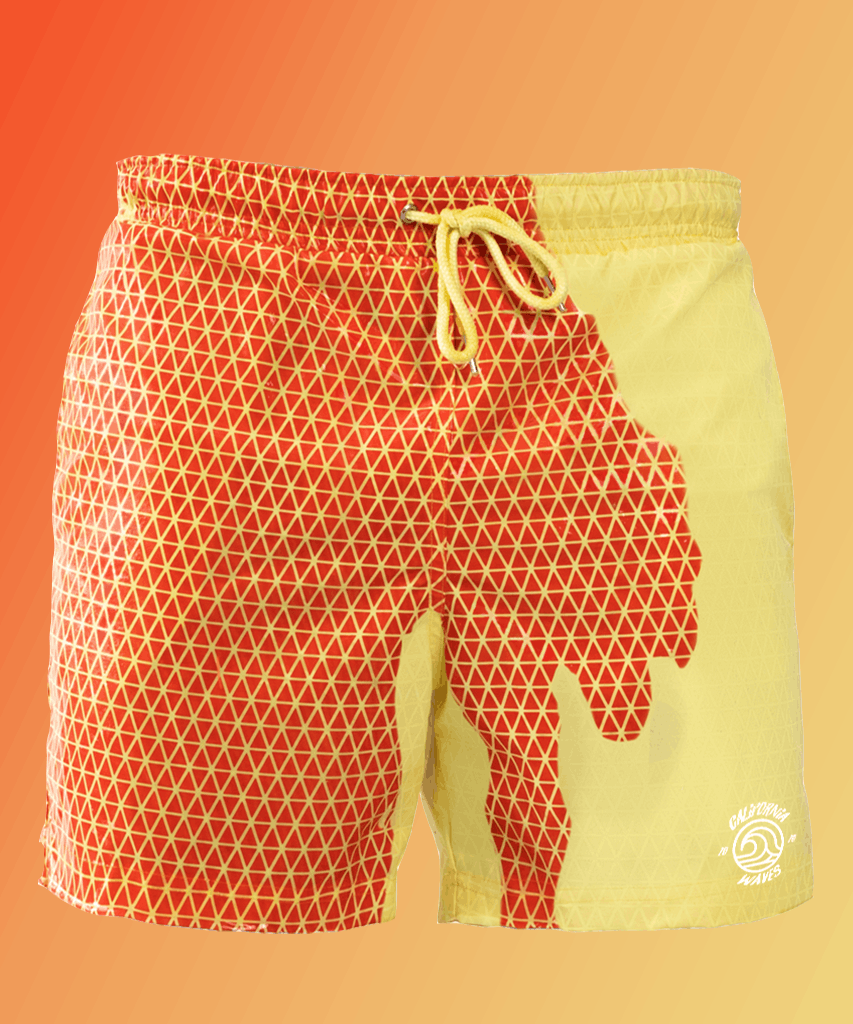 Bermuda Secret Vibes | Red Orange - Yellow