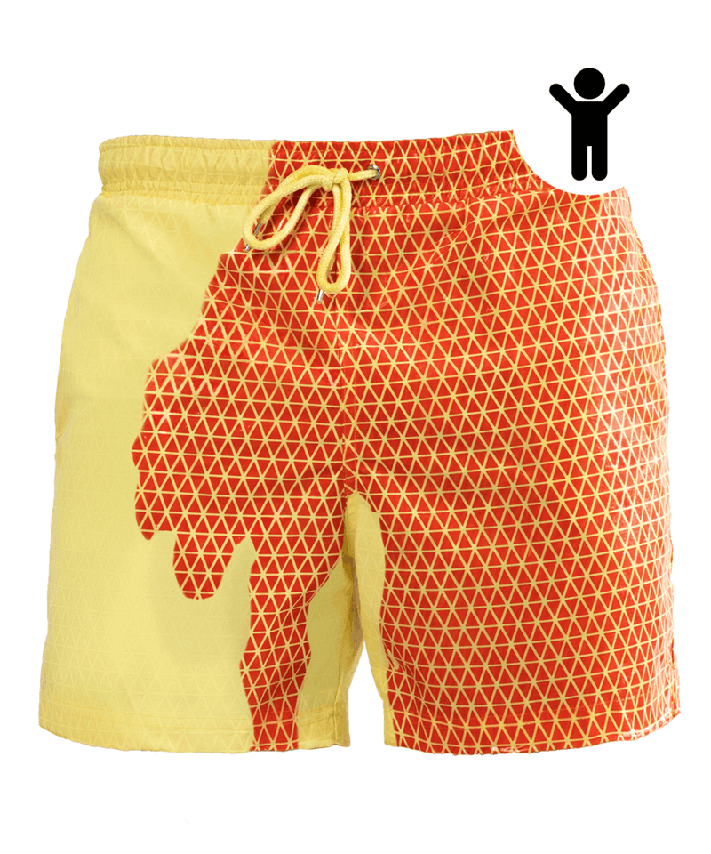 Kids | Bermuda Secret Red Orange - Yellow