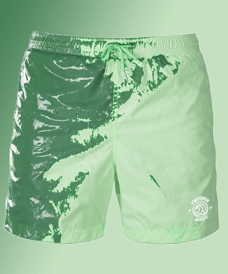 Mint-Green color changing swimshorts