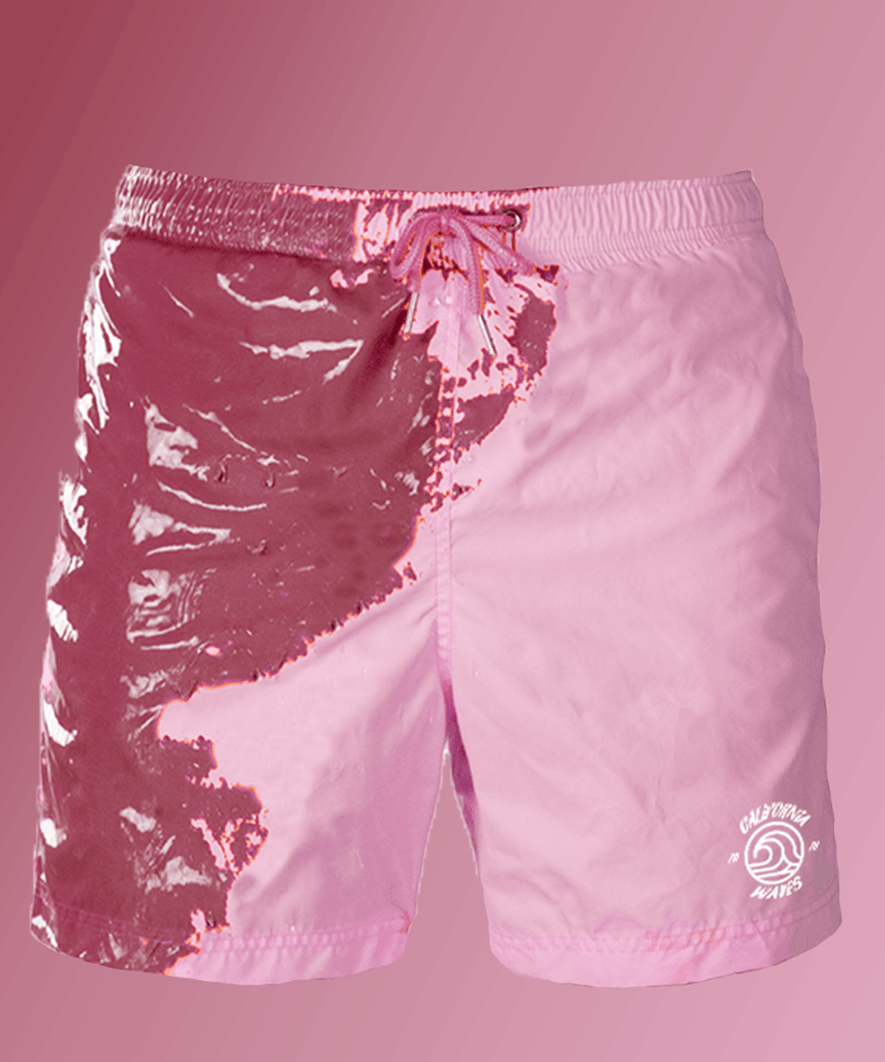 Bordeaux-Pink color changing swimshorts