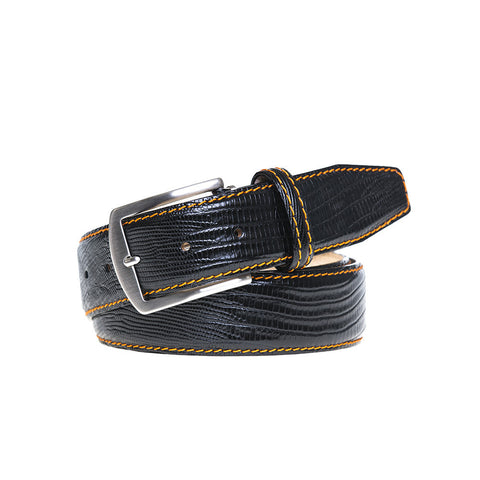Mock Lizard Leather Belts