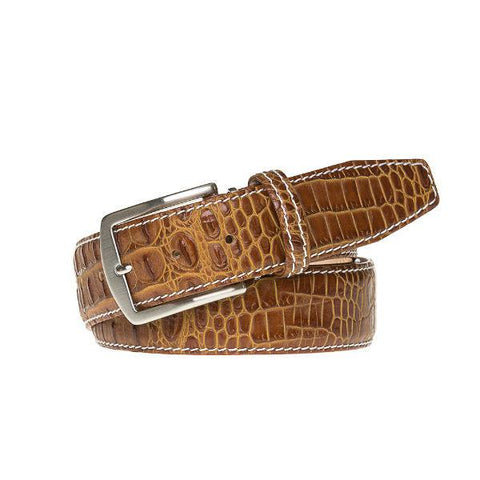 Mock Croc Leather Belts