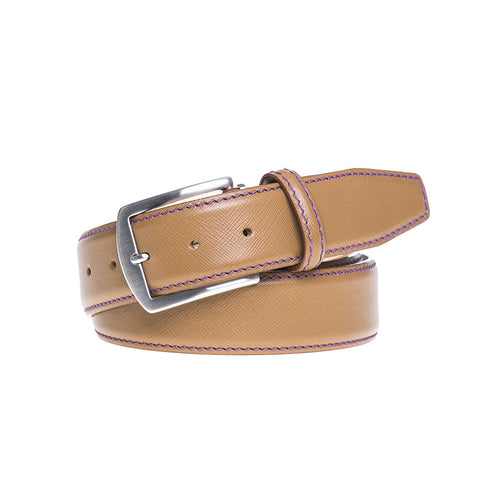Saffiano leather belts