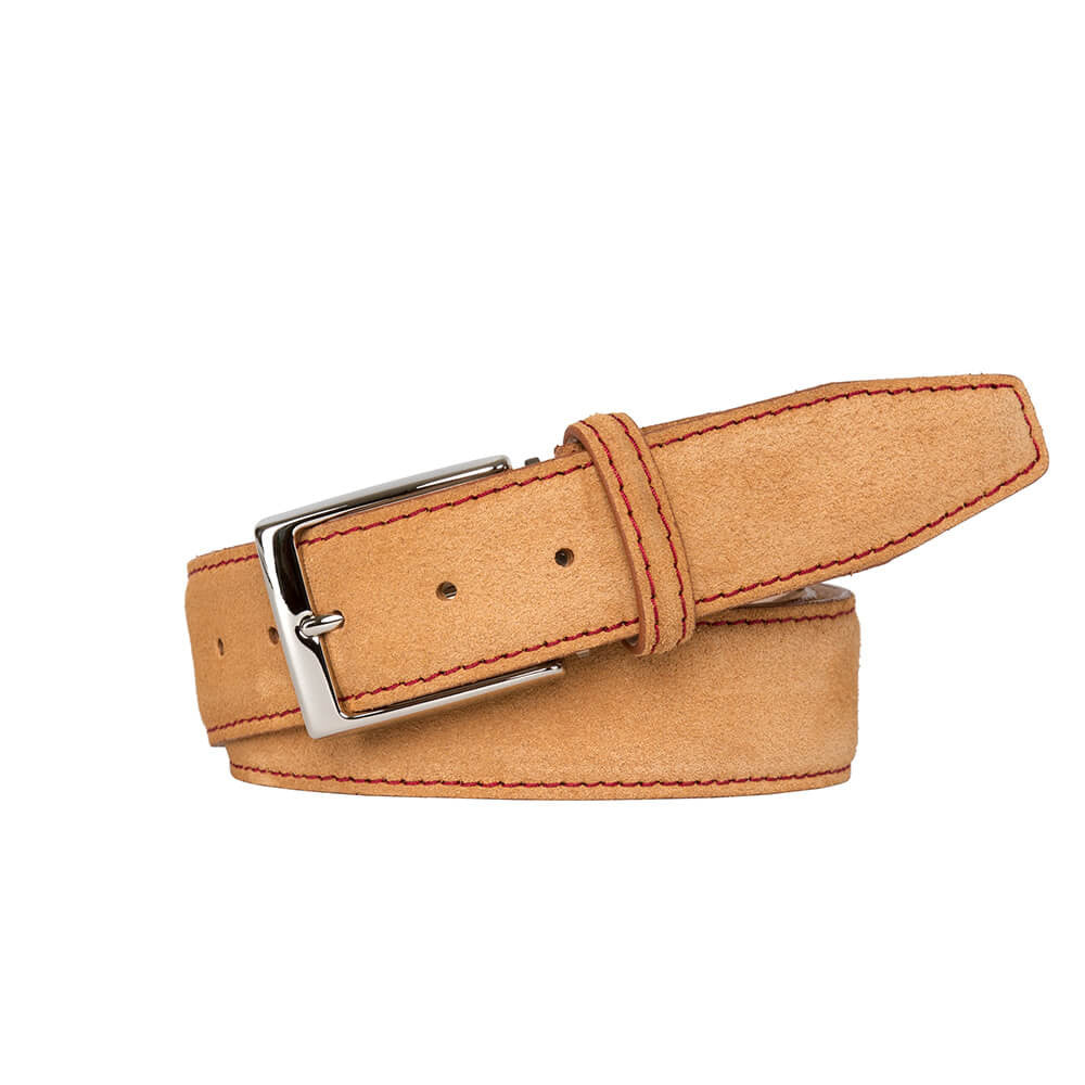 Custom suede belts made in the USA
