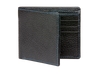 Black Pebble Grain Leather Wallet - Cobalt / One Size / Black | Mens Fashion & Leather Goods by Roger Ximenez