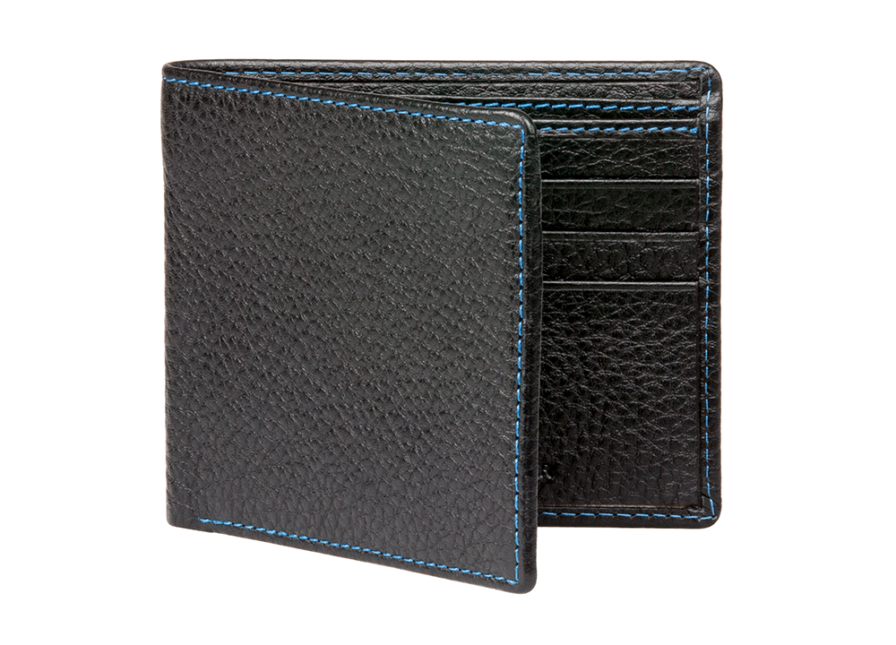 Black Pebble Grain Leather Wallet