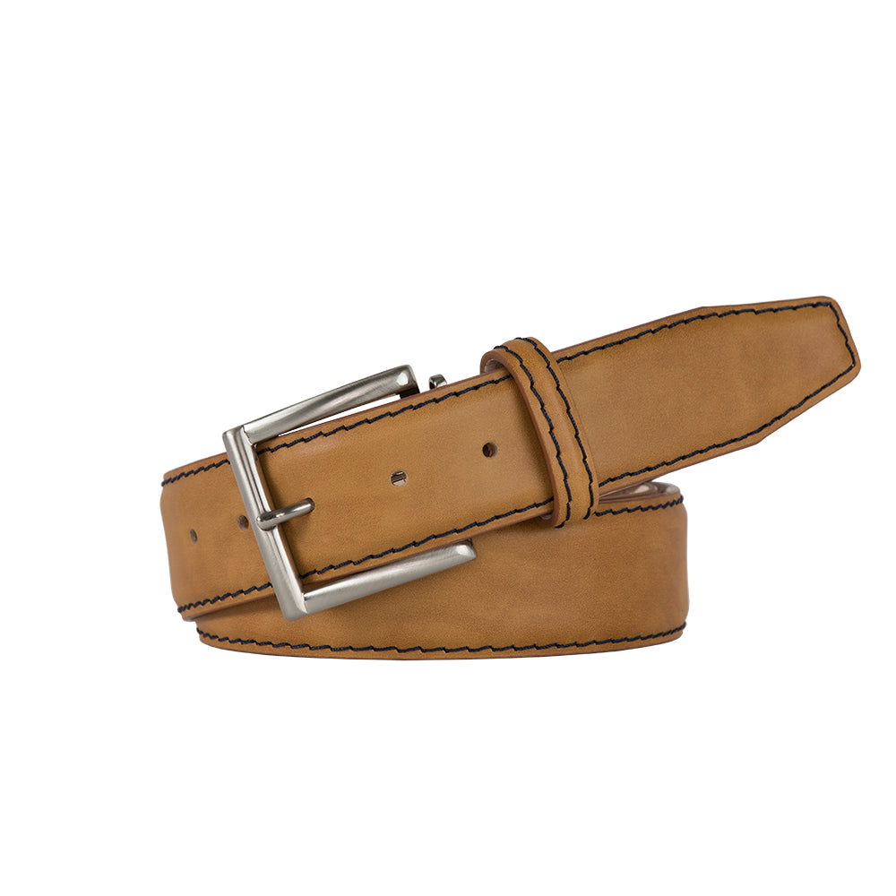 Caramel Italian Calf Belt - Black / 44 / 35mm | Mens Fashion & Leather Goods by Roger Ximenez