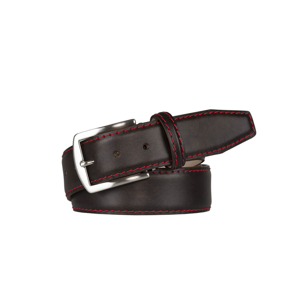 Driftwood Brown Surf Calf Leather Belt